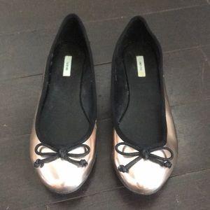 Kimchi Blue Metallic Ballet Flats